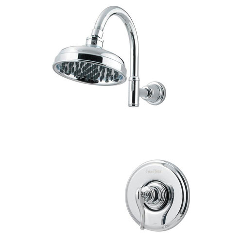 Price Pfister Ashfield Single-Handle Shower Faucet Trim Kit in Polished Chrome (Valve Not Included) 763584
