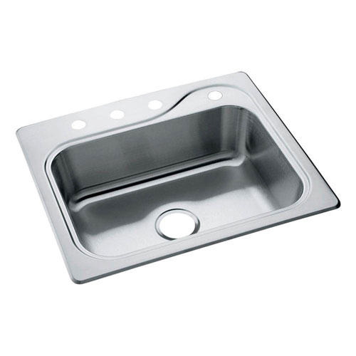 Sterling Southhaven Drop-In Stainless Steel 22 inch 4-Hole Single Bowl Kitchen Sink 249753