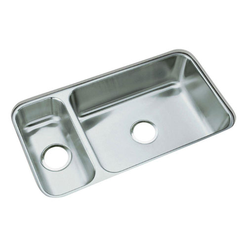 Sterling McAllister Undermount Stainless Steel 31-3/4x17-1/2x7 0-Hole Double Bowl Kitchen Sink 663132