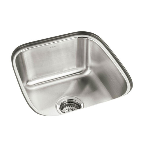 Sterling Springdale Undermount Stainless Steel 17.75 inch 0-Hole Single Bowl Kitchen Sink 663142