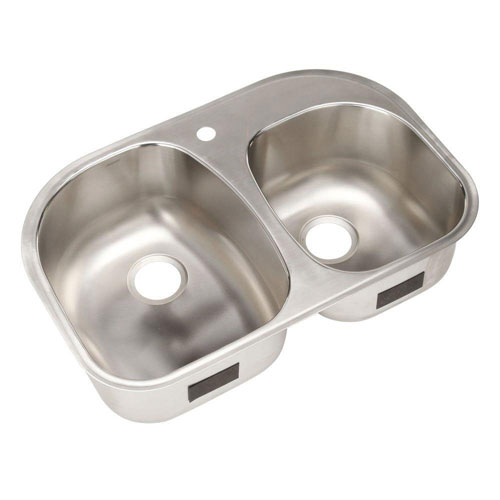 Sterling Cinch Undermount Stainless Steel 20.5 inch 1-Hole Double Bowl Kitchen Sink 663144