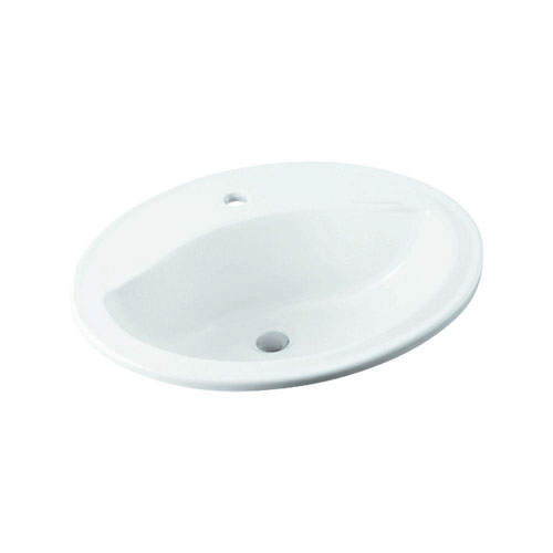 Sterling Sanibel Drop-in Bathroom Sink in White 664062